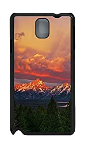 Samsung Note 3 Case Beautiful Mountains Sunset Forest57 PC Custom Samsung Note 3 Case Cover Black