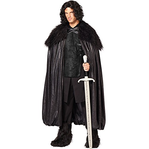 [Game of Thrones Jon Snow Deluxe Night's Watch Cloak] (Man Of The Nights Watch Costume)