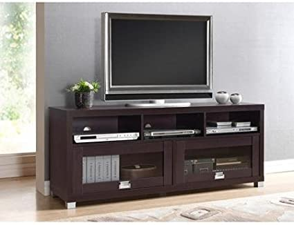 Amazon Com Durbin Espresso Tv Stand For Tvs Up To 65 Home Audio Theater