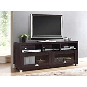 Amazon Com Durbin Espresso Tv Stand For Tvs Up To 65