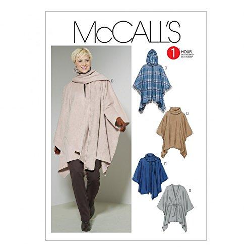 McCalls Ladies Easy Sewing Pattern 6209 Ponchos & Belt ()
