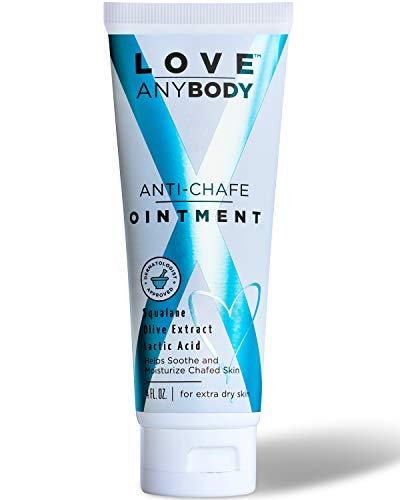 Love AnyBody Anti-Chafe Cream Ointment | Dermatologist Approved Chafe Relief | Natural, Unscented | Aluminum, Paraben, Phthalate + Cruelty Free | Skin Protectant | Squalene, Olive Extract, Lactic Acid from Love Anybody