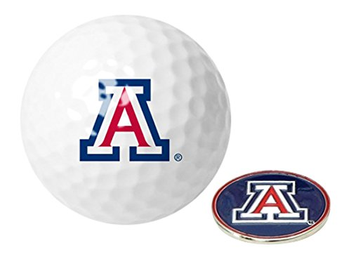 (NCAA Arizona Wildcats - Golf Ball One Pack with Marker)