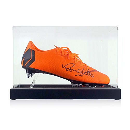 Ronaldo de Lima Signed Mercurial Soccer Shoe In Display Case | Autographed Memorabilia ()