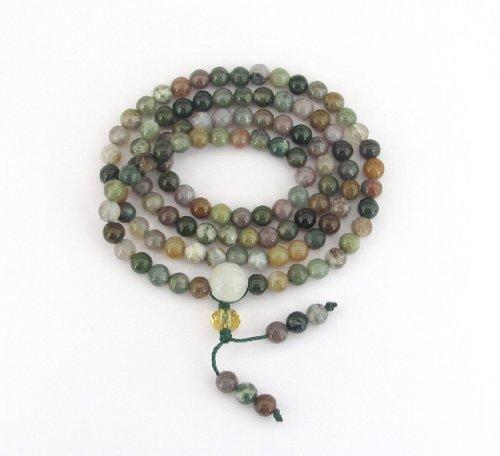 4mm Small 108 Agate Stone Beads Tibetan Buddhist Prayer Mala