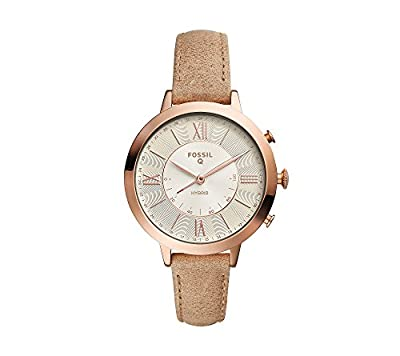 Fossil Women's Multi Function Leather Jacqueline Hybrid Smart Watch