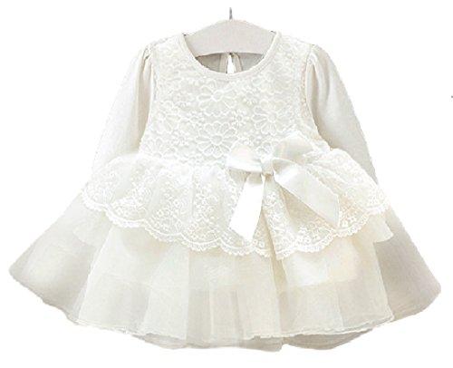 31f23bede3606 ベビー ドレス お宮参り ワンピース 新生児 フォーマル 結婚式 白 女の子 ベビー服 赤ちゃん (60