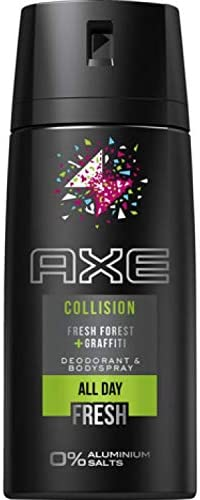 6 desodorantes en spray Axe 150 ml Collision 6 x 150 ml: Amazon.es ...