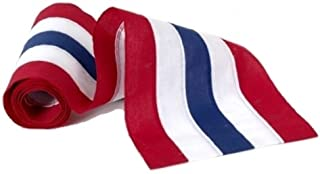 product image for Independence Bunting – 1 1/2' Wide American Made Nylon USA Bunting. Fully Sewn 5 Stripe Red, White & Blue Patriotic Bunting Banner! Sold by The Yard