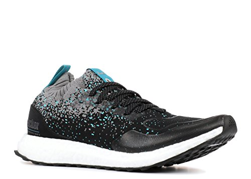 adidas Consortium x Packer x Solebox Men Ultraboost Mid Sneaker Exchange Black core Black Energy Blue Size 9.5 US (Adidas Consortium X Packer X Solebox Ultraboost Mid)