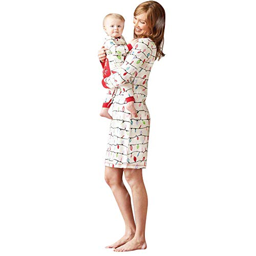 Kumike Fashion Christmas Family Matching Christmas Lovely Print Pajamas PJs Sets Outfits Sleepwear (Towable Man)
