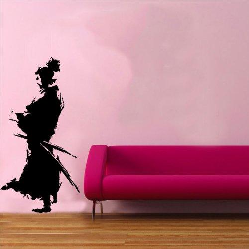 Diseño de Samurai 1 pegatina de pared vinilo arte ninja japonés Oriental espada 60 cm x 118 cm