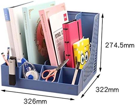 Akten-Halter Bürobedarf Buchständer Einfache Desktop-Ordner Ordner Storage Box Storage (Farbe: blau) Xping (Color : Blue)
