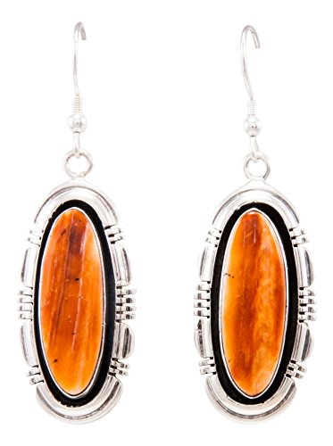 Navajo Native American Spiny Oyster Shell Earrings by Marvin McReeves