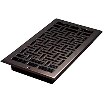 Decor Grates AJL612W-RB Oriental Wall Register, 6-Inch by 12-Inch, Rubbed Bronze