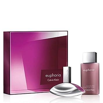 Calvin Klein Euphoria for Women Gift Set - 100ml EDP and 100ml ...