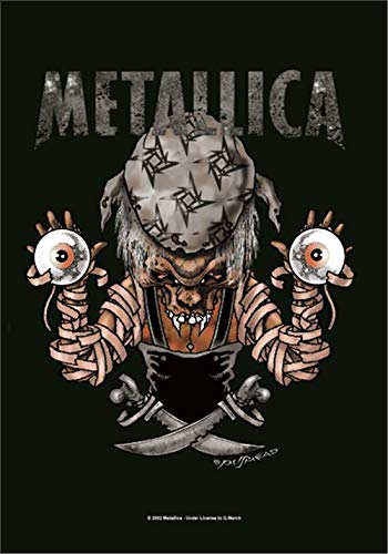 hr Bioworld Metallica Pirate Eyes Large Fabric Poster//Flag 1100mm x 750mm