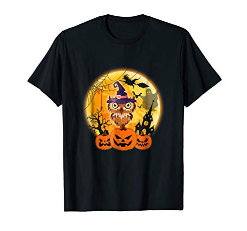 Owl With Pumpkin Costume Shirt For Men Women