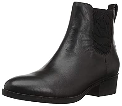 Taryn Rose Women's GINA Ankle Boot, Black, 8 M Medium US