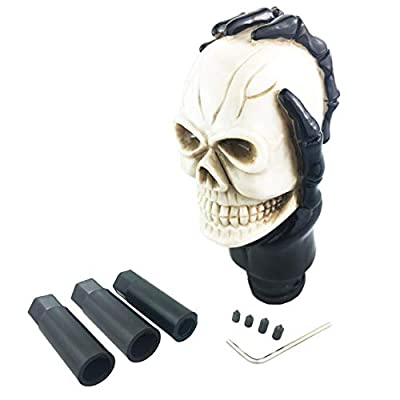 Arenbel Manual Gear Shift Knob Skull Shift Lever Stick Shifter Knob fit Universal Manual Atomatic Transmission, Beige: Home Improvement