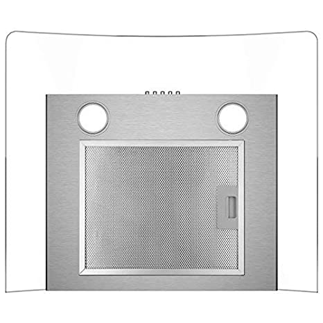 CIARRA 60cm Glass Cooker Hood Curved image 4