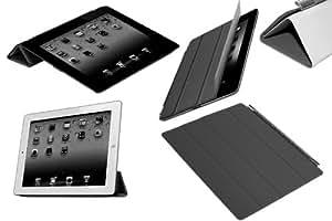 Funda de piel delantera Funda con tapa para iPad AIR función atril, protector de pantalla y soporte