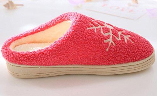 Pantofole Da Donna Calde Comode Pantofole Da Donna Morbide Rosse