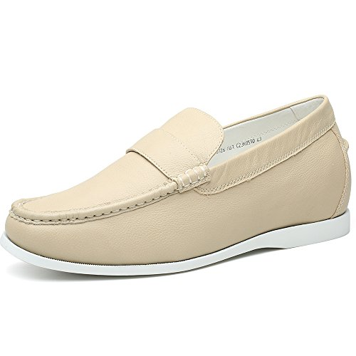 H81C19K181D Plat Enhanced Shoes Men Casual for cm white 6 CHAMARIPA Loafers Creamy Driving xqS0HpvSw