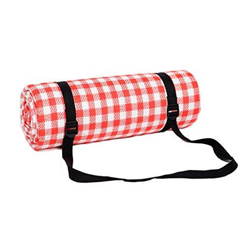 Picknickdecken 200  200 cm Picknick Matte Feuchtigkeits Pad Rot Weiß Grid Wasserdichte Unterstützung (größe   200  200cm)
