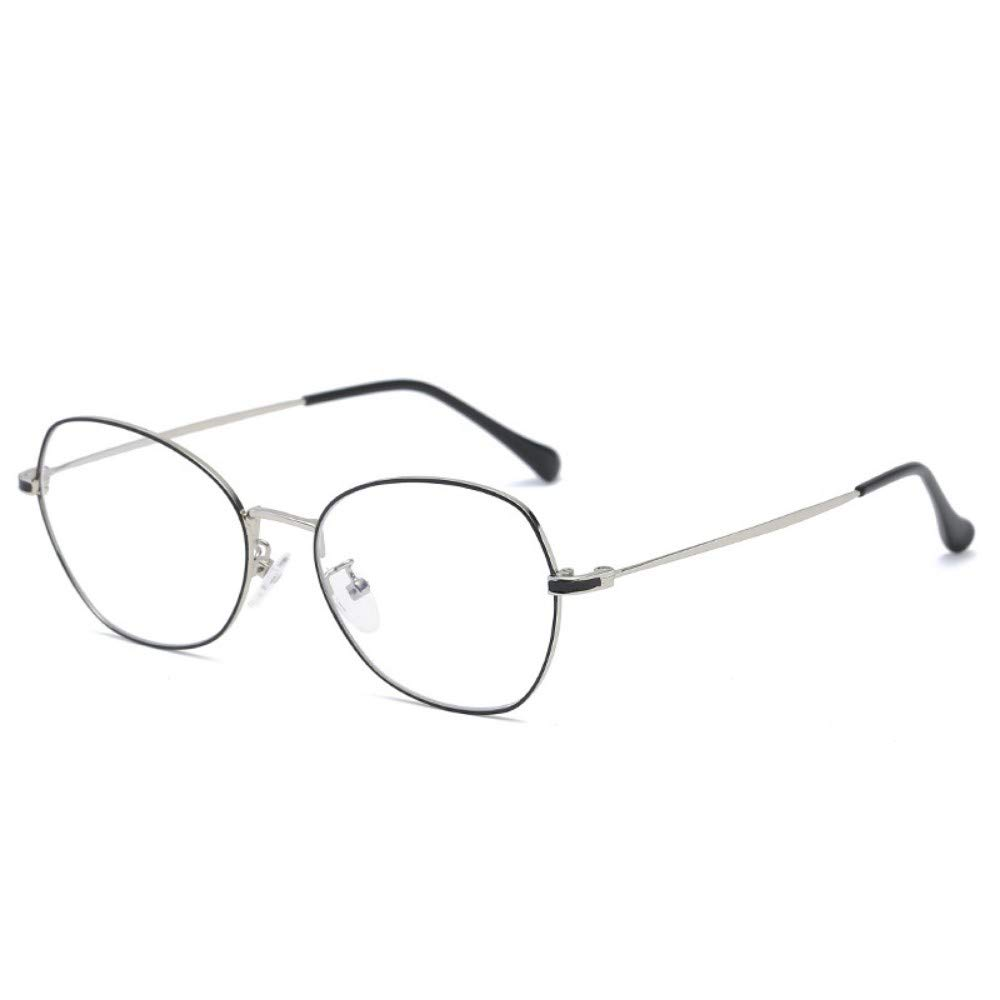 Gb Kk Eyes Anti-Blu-Ray Glasses Flat Mirror Retro Irregular No Degree Personality
