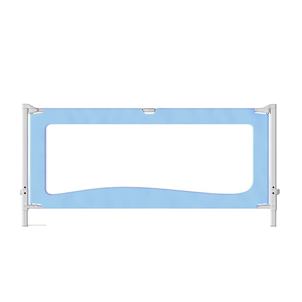 ベッドフェンス キッズベッド安全ベッドレール、子供のためのポータブル折りたたみベッドレールクイーンフェンスガールズボーイズ、高さ85 cm(複数色可能) (色 : 青, サイズ さいず : Length 150cm) Length 150cm 青 B07KM4FBSS