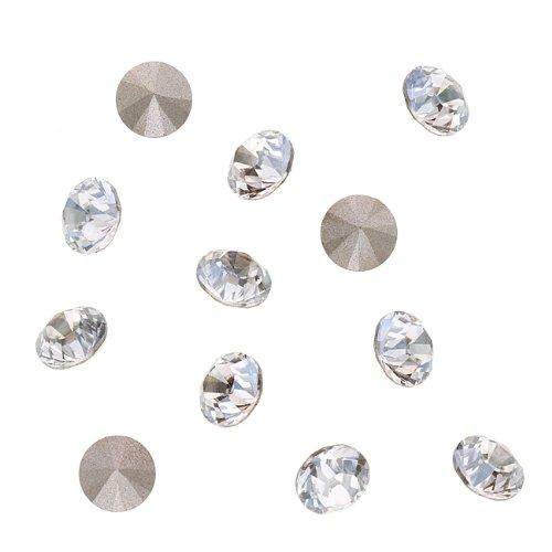 Swarovski Crystal, 1088 Xirius Round Stone Chatons ss39, 6 Pieces, Crystal Silver Shade F