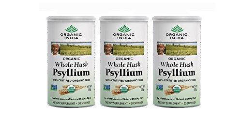 - 3 x Organic India Whole Husk Psyllium (Isabgol) - 100g