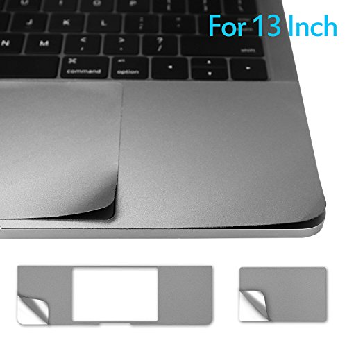 13 Inch Palm Rest Cover Skin with Trackpad Protector for 2016 Released MacBook Pro 13 Model A1706 & A1708 with or without Touch Bar & Touch ID - Space Gray