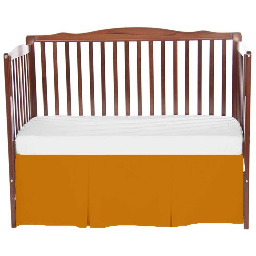 bkb Solid Tailored Crib Skirt, Orange by bkb