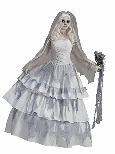 Forum Novelties Women's Deluxe Victorian Ghost Bride Costume, Multi, One (Gothic Halloween Costumes For Women)