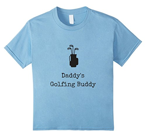 Price comparison product image Kids Daddy's Golfing Buddy with Golf Clubs & Bag Kids T- Shirt 4 Baby Blue