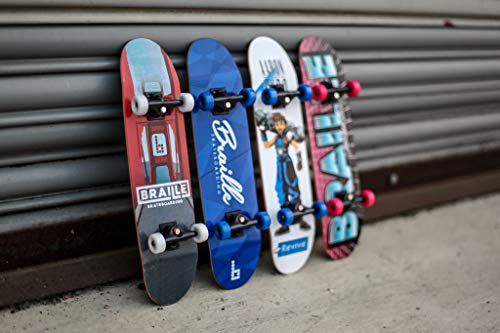 Braille Skateboarding Four Pack Aaron Kyro 11inch Professional Hand Board. Toy Skateboard Comes with Wheels, Trucks, Hardware and Tools. Real Griptape. by Braille Skateboarding (Image #5)