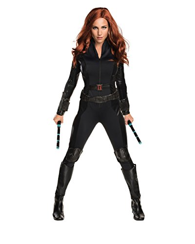 [Secret Wishes Women's Captain America: Civil War Widow Costume, Black, Small] (Black Widow Marvel Costumes)