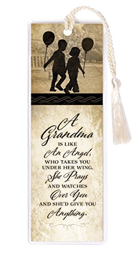 Grandma Angel She Prays Watches Give Anything 2 x 6 Inch Vinyl-Encased Bookmark ()