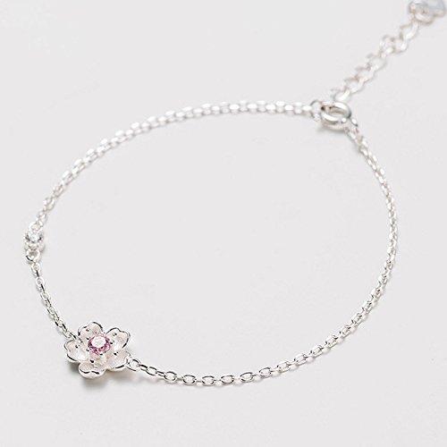Diamonds Sweet Bracelet (Jaese wild cherry bracelet Korea Korean version of sweet pink diamond amethyst purple diamond flowers branches diamond jewelry hand)