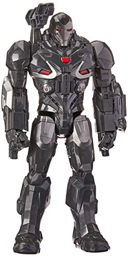 Boneco Titan Deluxe 2.0 Máquina Combate, Avengers, Cinza/preto