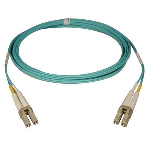 Tripp Lite 10Gb Duplex Multimode 50/125 OM3 LSZH Fiber Patch Cable, (LC/LC) - Aqua, 25M (82-ft.)(N820-25M)