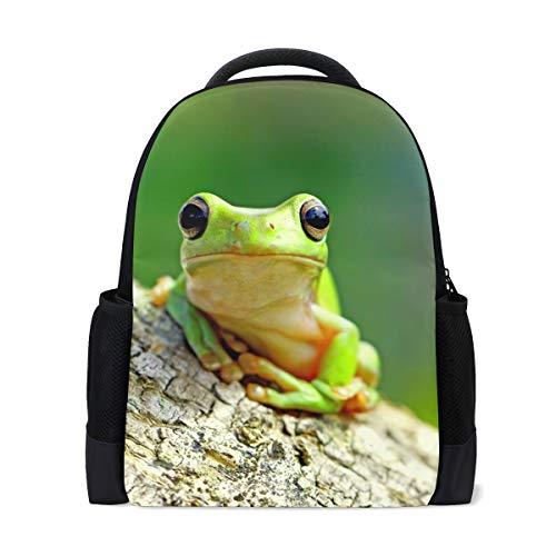ALAZA Dumpy Frog Tree Large Backpack School Book Bag Travel Daypack for Kids Boy Girls ()