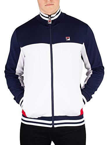 Mens Vintage Track Jacket - Fila Men's Tiebreaker Funnel Neck Track Jacket, Blue, XL
