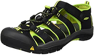 KEEN Little Kid (4-8 Years) Newport H2 Black/Lime Green Sandal - 1 M US Little Kid