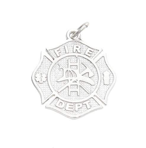 Sterling Silver FIRE Department Maltese Cross Charm Jewelry Making Supply Pendant Bracelet DIY Crafting by Wholesale Charms