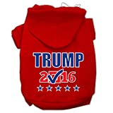Mirage Pet Products Trump Checkbox Election Screenprint Pet Hoodies, 3X-Large, Red For Sale