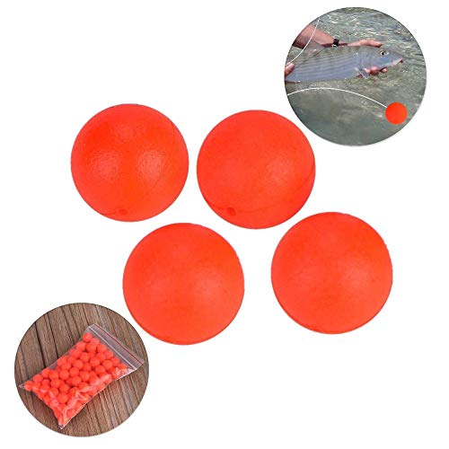T-best Foam Ball Striking Beans,100pcs Fishing Float Ball EPS Foam Ball Striking Beans Fishing Circular Float Globular Buoy for Fishing(4#)