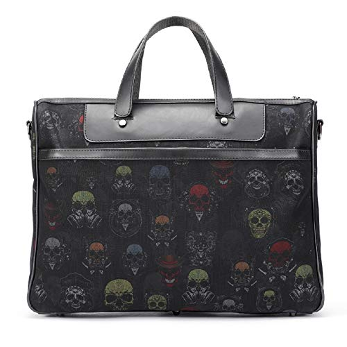 Leisure Zhrui Handbag 1 Package Black Case Shoulder Notebook Diplomatic Men's Messenger Bag Briefcase rErqtw6Wx